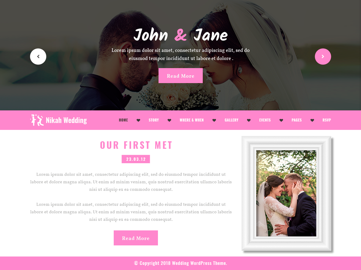 Nikah Wedding Wordpress Theme